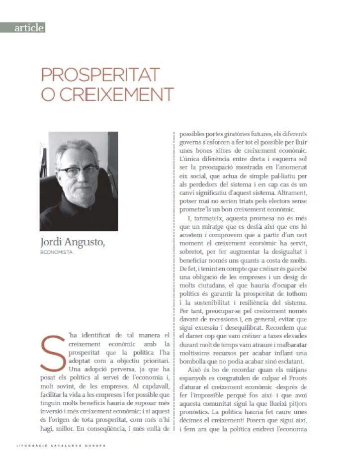 Prosperidad o crecimiento