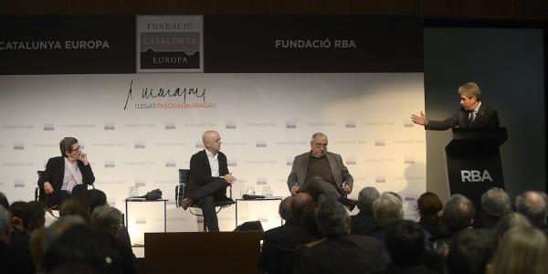 Elorza y Colau reivindican el municipalismo de Maragall en la II Conferencia anual del Legado Pasqual Maragall