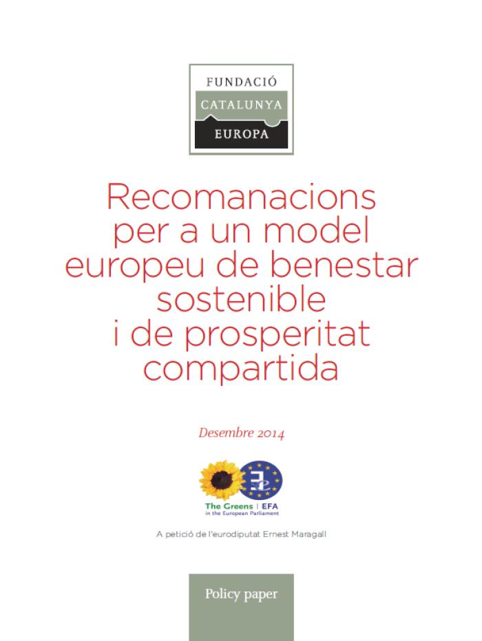 Recomendaciones para un modelo europeo de bienestar sostenible y de prosperidad compartida
