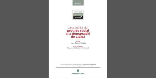 Una anàlisi del progrés social a la demarcació de Lleida