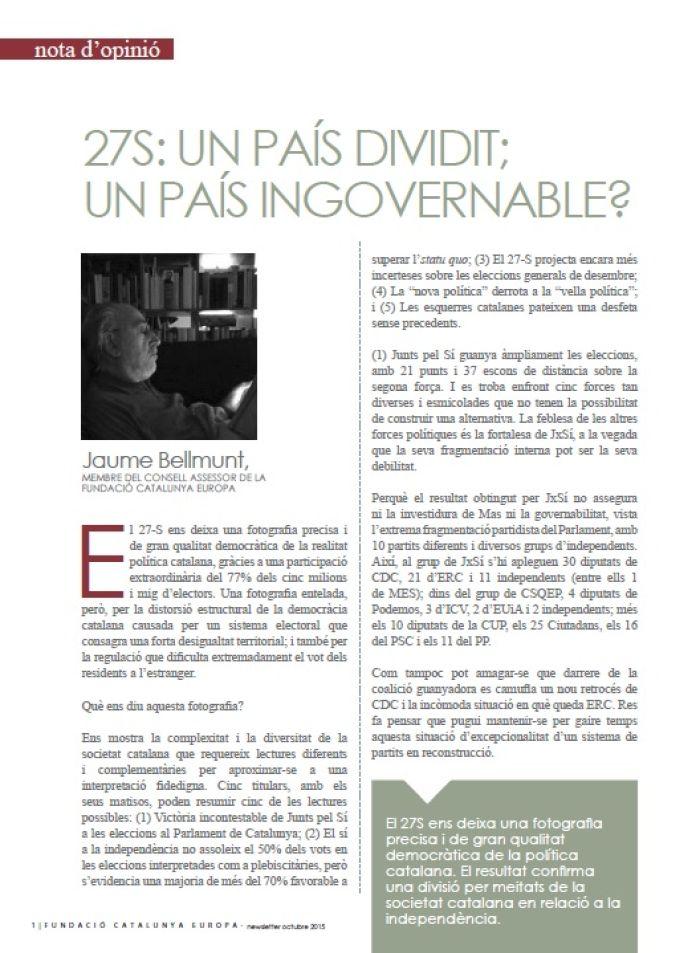 27S: Un país dividido; ¿un país ingobernable?