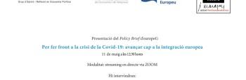 Per fer front a la crisi de la Covid-19: Avançar cap a la integració europea