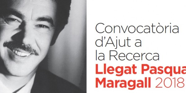 The Call for Research Aid Pasqual Maragall Legacy 2018 opens