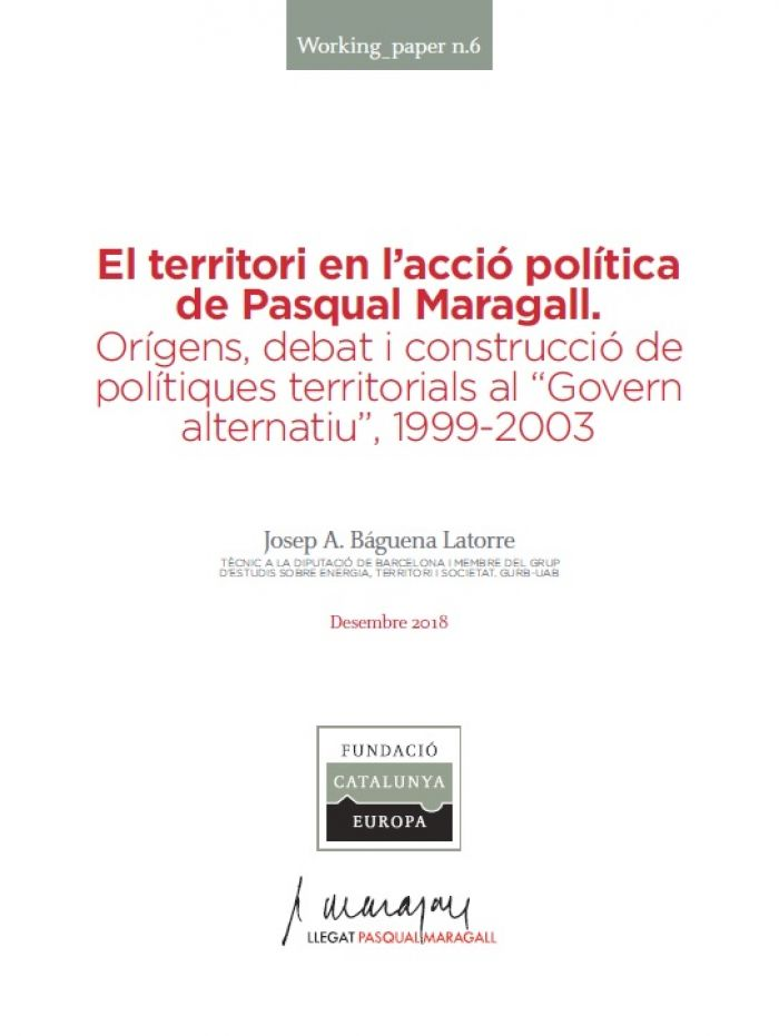 The territory in the political action of Pasqual Maragall