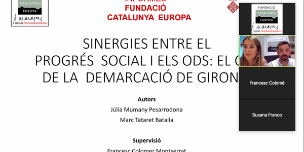 Synergies between social progress and the SDGs: The case of the demarcation of Girona