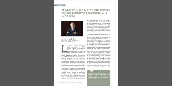Draghi-Schäuble: dos visiones sobre la política económica que conviene a la zona euro