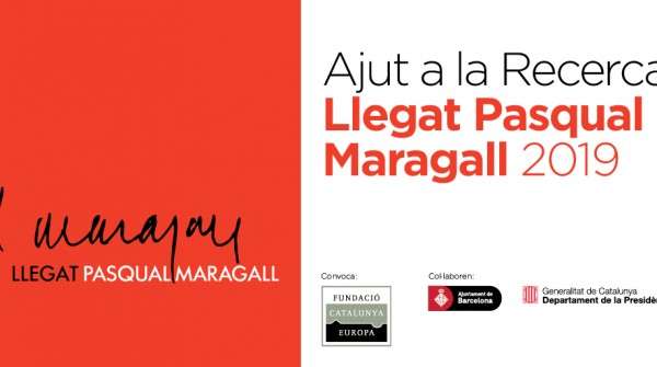 The call for aid for research Llegat Pasqual Maragall 2019 is now open