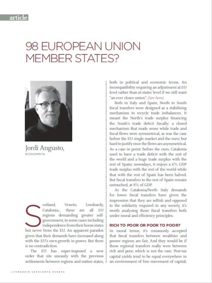 98 Estats Membres de la Unió Europea?