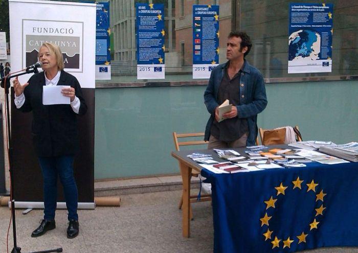 Acto de conmemoración del 60º aniversario de la creación de la bandera europea