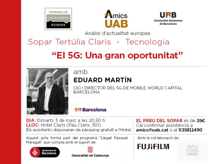 5G: A great opportunity. Dinner colloquium with Eduard Martín