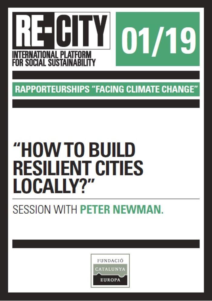 El impacto de las ciudades en el cambio climático. Nexo urbano-rural. Peter Newman