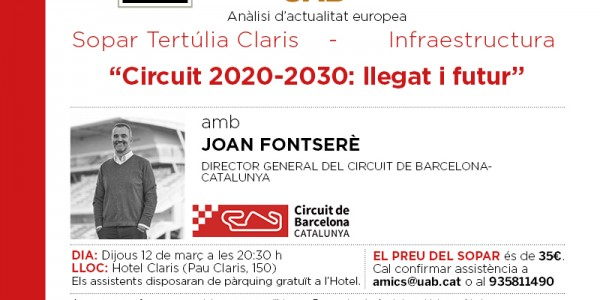 Circuito 2020-2030: Legado y futuro. Cena coloquio con Joan Fontserè