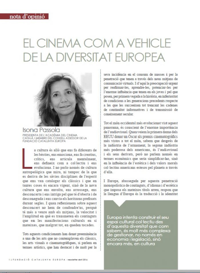 Cinema as a vehicle for European diversity