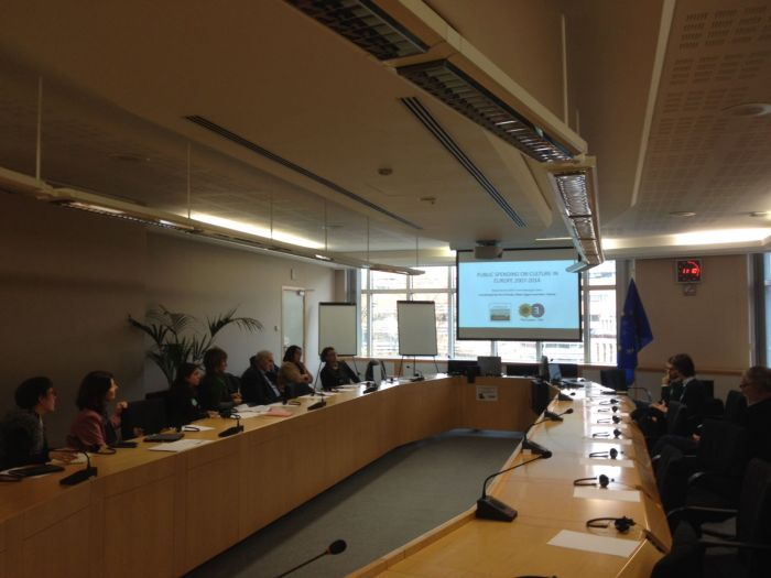 Presentation in Brussels: Report on the public cultural expense in Europe 2007-2014