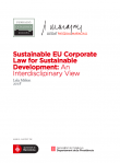 Sustainable EU corporate law for sustainable development: An interdisclipinary view