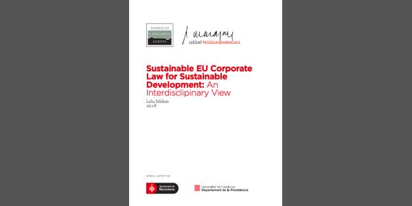 Derecho corporativo de la UE sostenible para un desarrollo sostenible: Una visión interdisciplinar