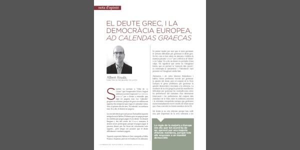 El deute grec i la democràcia europea, ad calendas graecas