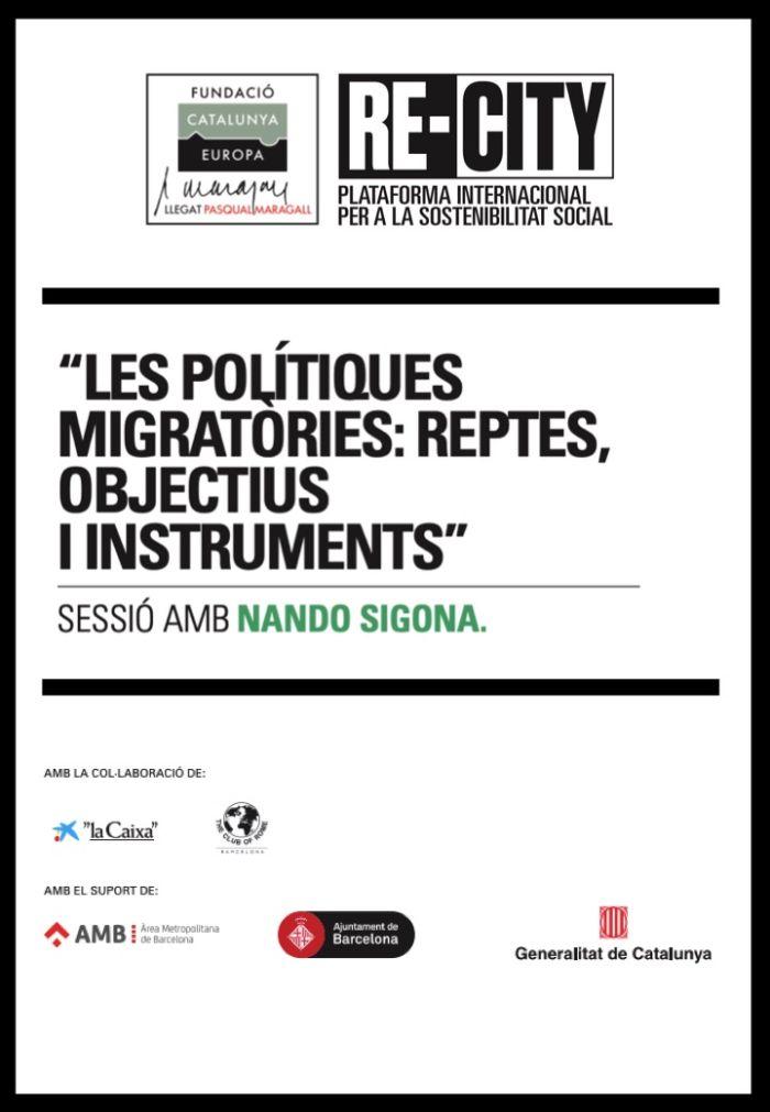 Les polítiques migratòries: Reptes, objectius i instruments. Nando Sigona