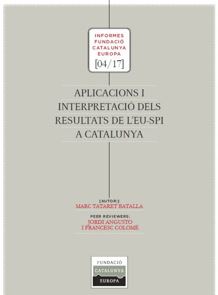 Applications and interpretation of the results of the EU-SPI in Catalonia