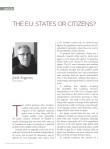 La UE. Estados o ciudadanos?