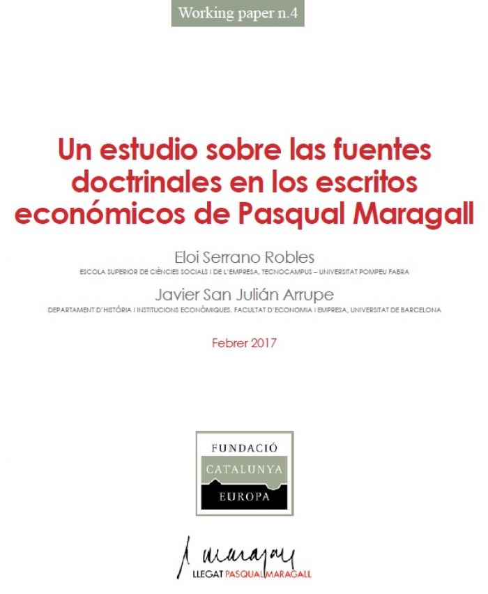 A study on the doctrinal sources in the economic writings of Pasqual Maragall
