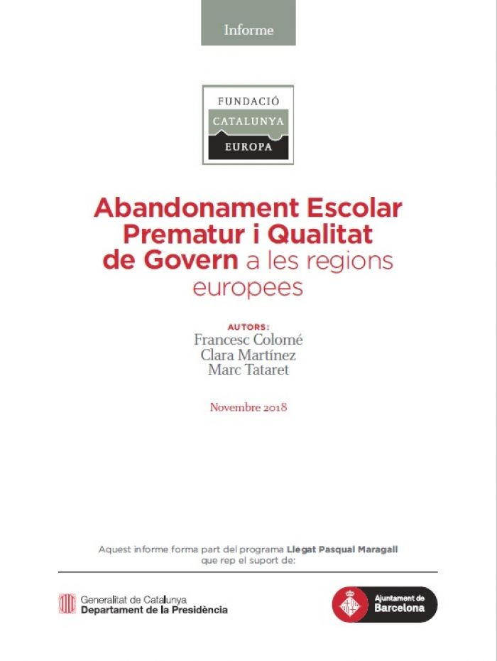 Abandonament escolar prematur i qualitat de govern a les regions europees
